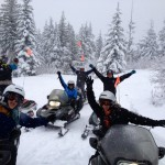 snowmobiling on schweitzer mountain