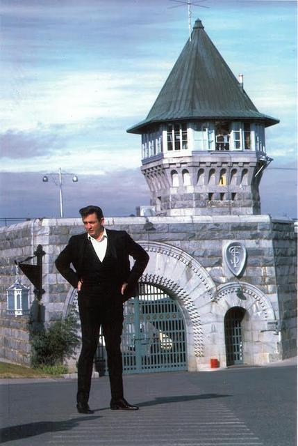johnny cash at folsom photo by pam murray